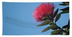 Pohutukawa Tree Flower Hand Towel