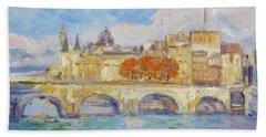 Pont Neuf, Paris Hand Towel