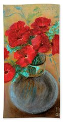 Poppies  Hand Towel by Jasna Dragun