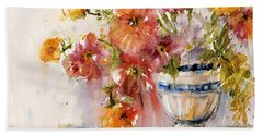 Poppies Hand Towel by Judith Levins