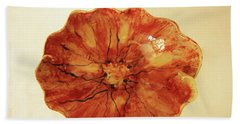 Poppy Bath Towel by Itzhak Richter