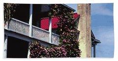 Porch In Bloom Bath Towel by Glenn Gemmell