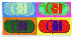 Porsche 718 Boxster S, Warhol Style, Office Decor Bath Towel
