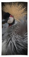 Portrait Of A Crowned Crane Bath Towel