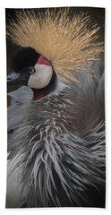 Bath Towel featuring the digital art Portrait Of A Crowned Crane by Ernie Echols