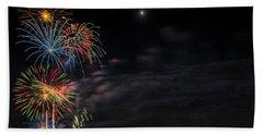 Poughkeepsie Fireworks Image Six Hand Towel