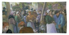Poultry Market At Gisors  Bath Towel