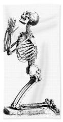 Praying Skeleton Bath Towel