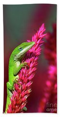 Bath Towel featuring the photograph Pretty In Pink by Kathy Baccari