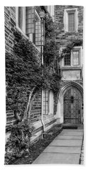 Bath Towel featuring the photograph Princeton University Foulke Hall II by Susan Candelario