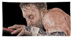 Pro Wrestler Chris Masters Planning His Move Hand Towel