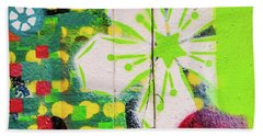 Bath Towel featuring the photograph Psychedelic Street Art by Art Block Collections