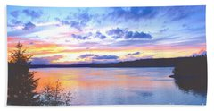 Bath Towel featuring the photograph Puget Sound Sunset by Sean Griffin