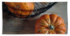 Pumpkin Hand Towel by Nailia Schwarz