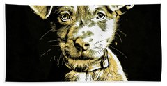 Puppy Dog Graphic Novel Drawing Hand Towel
