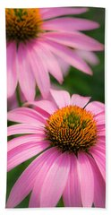 Purple Coneflower Bath Towel by Jim Hughes