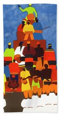 Pyramid Of African Drummers Hand Towel
