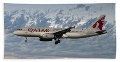 Qatar Airways Airbus A320-232 Hand Towel