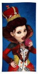 Queen Of Hearts Portrait Hand Towel