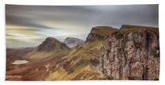Quiraing - Isle Of Skye Hand Towel by Grant Glendinning