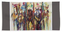 Races Bath Towel by Heather Roddy
