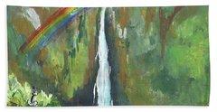 Rainbow Falls  Bath Towel