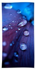 Bath Towel featuring the photograph Raindrops by Rachel Mirror