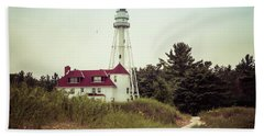 Bath Towel featuring the photograph Rawley Point Lighthouse by Joel Witmeyer
