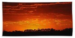 Red Arkansas Bath Towel by J R Seymour