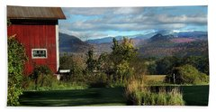 Red Barn In Newbury Vermont Hand Towel