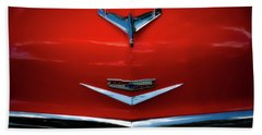 Red Chev Bath Towel by Jerry Golab
