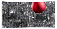 Red Christmas Bath Towel by Ulrich Schade