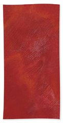 Red Field Hand Towel