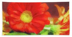 Red Flower Hand Towel