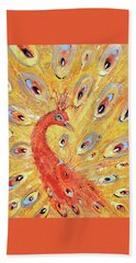 Red Peacock  Hand Towel
