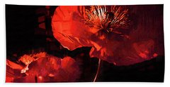 Bath Towel featuring the digital art Two Red Poppies by Kirt Tisdale