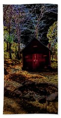 Red Shed Bath Towel by Randy Sylvia