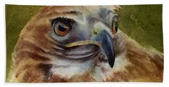 Red-shouldered Hawk Bath Towel
