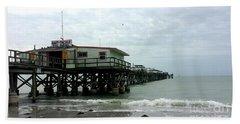 Redington Beach, Florida Fishing Pier Bath Towel by Scott D Van Osdol