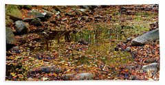 Hand Towel featuring the photograph Reflections Of Fall by Paul Mashburn