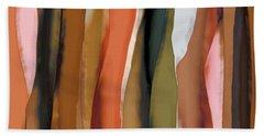 Ribbons Bath Towel by Bonnie Bruno
