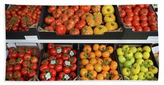 Ripe Tomatoes Bath Towel by Hans Engbers