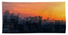 Bath Towel featuring the photograph River City by Cathy Donohoue