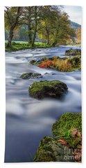 River Llugwy Bath Towel by Ian Mitchell