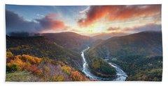 River Meander At Sunrise Hand Towel
