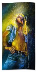 Robert Plant 01 Hand Towel by Miki De Goodaboom