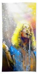 Robert Plant 02 Hand Towel by Miki De Goodaboom