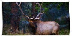 Rocky Mountain Elk Bath Towel