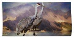 Rocky Mountain Sandhill Cranes Hand Towel
