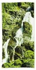 Rocky Mountain Waterfall Hand Towel